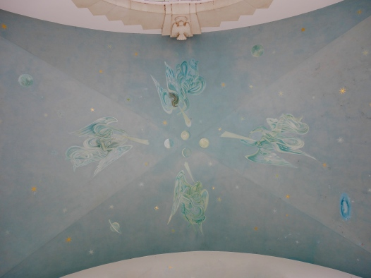Runnymede Chapel ceiling